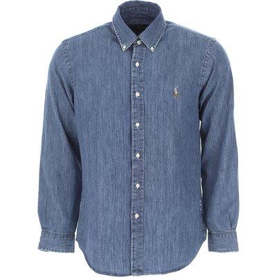 Ralph Lauren Hemde  Oberhemd, Denim- Blau, Baumwolle