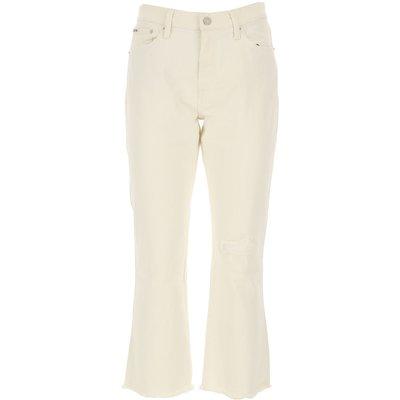 RALPH LAUREN Ralph Lauren Jeans, Bluejeans, Denim Jeans für Damen Günstig im Sale, Weiss, Baumwolle, 2017, 40 42 44