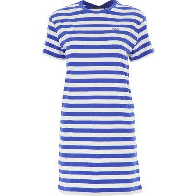 RALPH LAUREN Ralph Lauren Kleid für Damen Günstig im Sale, Weiss, Baumwolle, 2017, M XS