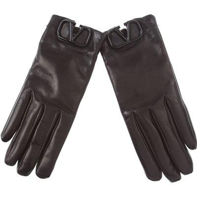 Valentino Handschuhe, Rot, Leder