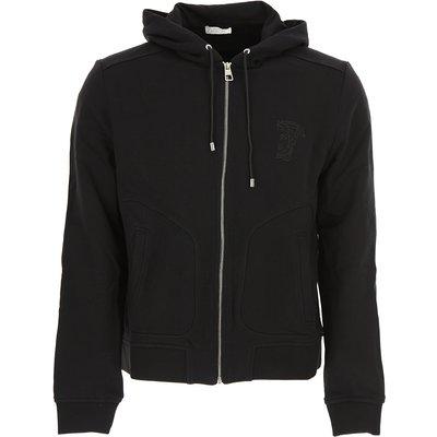 VERSACE Versace Sweatshirt für Herren, Kapuzenpulli, Hoodie, Sweats Günstig im Sale, Versace Collection, Schwarz, Baumwolle, 2017, L M S