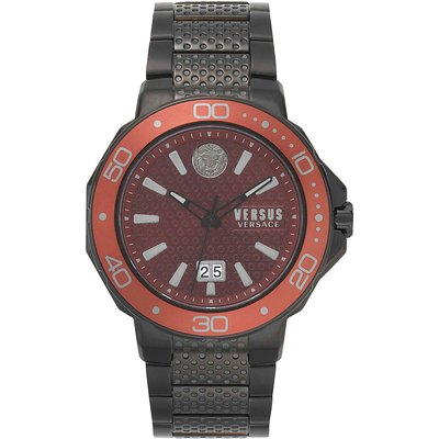 VERSACE Versace Uhr für Herren, Chronometer, Zeitmesser Günstig im Sale, IP Schwarz, Rostfreier Stahl, 2017