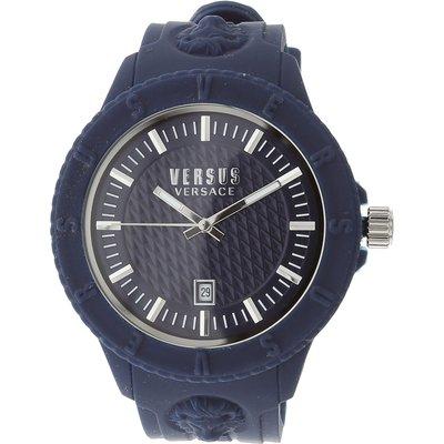 VERSACE Versace Uhr für Damen, Chronometer, Zeitmesser Günstig im Sale, Blau, Gummi, 2017