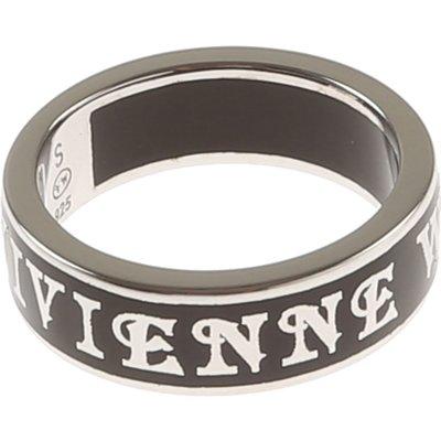 Vivienne Westwood Ring, Schwarz, Rhodium