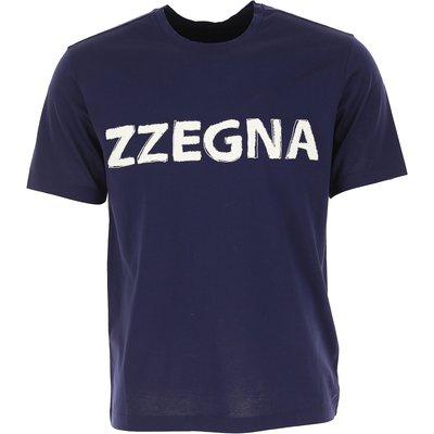 ERMENEGILDO ZEGNA Ermenegildo Zegna T-Shirts für Herren, T'Shirts Günstig im Outlet Sale, Dunkelblau, Baumwolle, 2017, S XXL