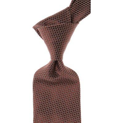 ERMENEGILDO ZEGNA Ermenegildo Zegna Krawatten Günstig im Sale, Verbranntes Braun, Seide, 2017