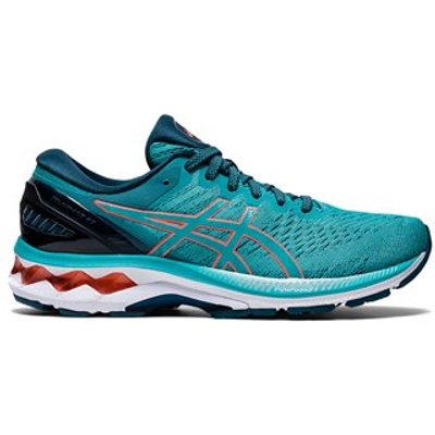 Asics Gel Kayano 27 Running Shoes - Womens - Techno Cyan/Sunrise Red