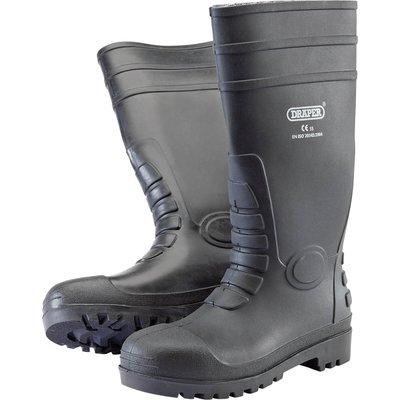 Draper Safety Wellington Boots Black