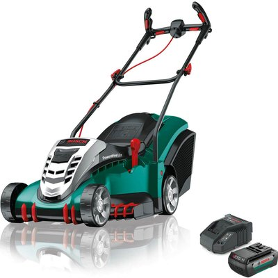 Bosch ROTAK 410 LI ERGOFLEX 36v Cordless Rotary Lawnmower 430mm 1 x 2ah Li ion Charger - 5056293217668