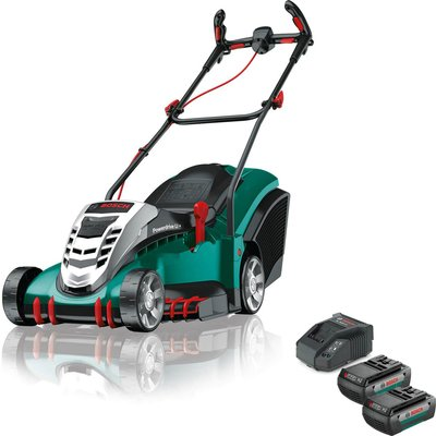Bosch ROTAK 410 LI ERGOFLEX 36v Cordless Rotary Lawnmower 430mm 2 x 2ah Li ion Charger - 5056293217675