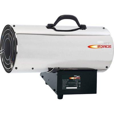 Draper Jet Force PSH125SS Stainless Steel Propane Space Heater 240v - 5010559176854
