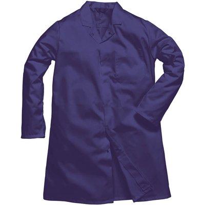 Portwest Mens Single Pocket Food Coat Navy XL