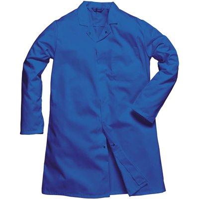 Portwest Mens Single Pocket Food Coat Royal Blue L