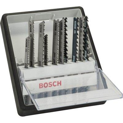 Bosch 10 Piece Wood Cutting Jigsaw Blade Set