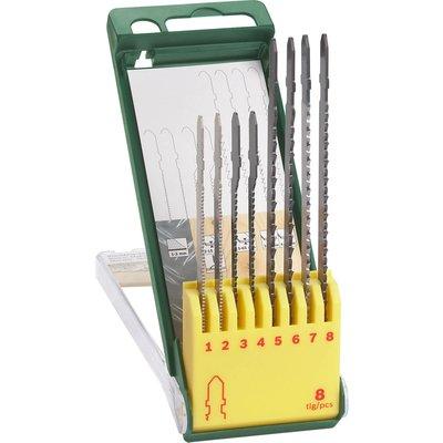 Bosch 8 Piece Wood and Metal Cutting T Shank Jigsaw Blade Set