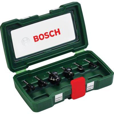 """Bosch 6 Piece 1/4"""" Router Bit Set"""