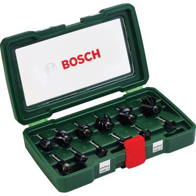 """Bosch 12 Piece 1/4"""" Router Bit Set"""