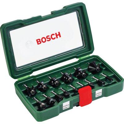 """Bosch 15 Piece 1/4"""" Router Bit Set"""