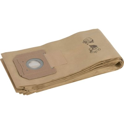 Bosch Paper Filter Bags for GAS 55 Pack of 5 - 3165140713597