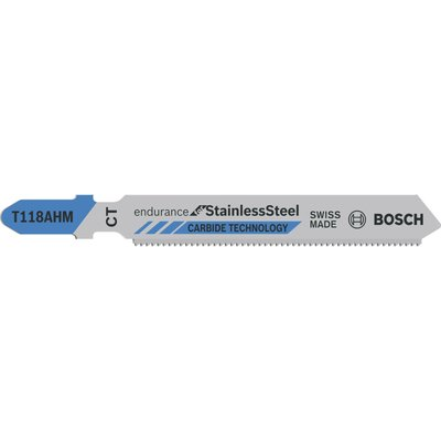 Bosch T118 AHM Stainless Steel Cutting Jigsaw Blades Pack of 3