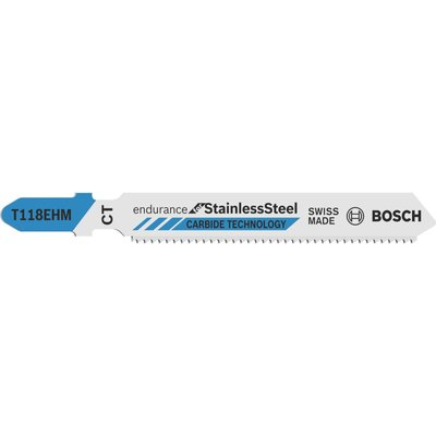 Bosch T118 EHM Stainless Steel Cutting Jigsaw Blades Pack of 3