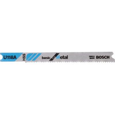 Bosch U118 A Metal Cutting Jigsaw Blades Pack of 3