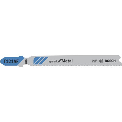 Bosch T121AF Speed Metal Cutting Jigsaw Blade Pack of 3