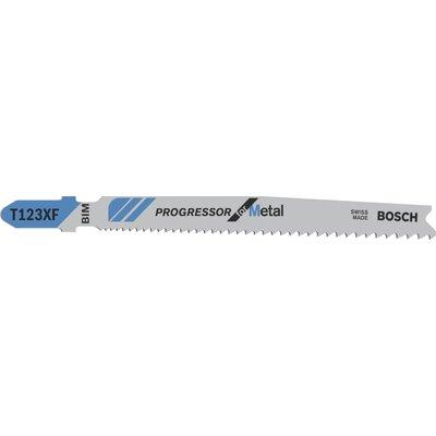 Bosch T123 XF Progressor Metal Cutting Jigsaw Blades Pack of 5