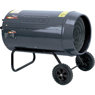 Draper Stainless Steel Propane Gas Space Heater with Wheels 102000btu 240v - 5010559322183