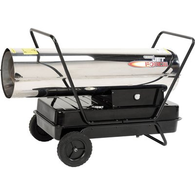 Draper Stainless Steel Diesel   Paraffin Space Heater with Wheels 170000btu 240v - 5010559326730