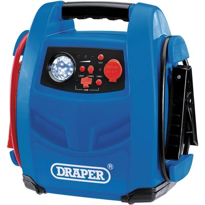 Draper JS800 Emergency Jump Starter, Powerbank and Air Compressor 12v