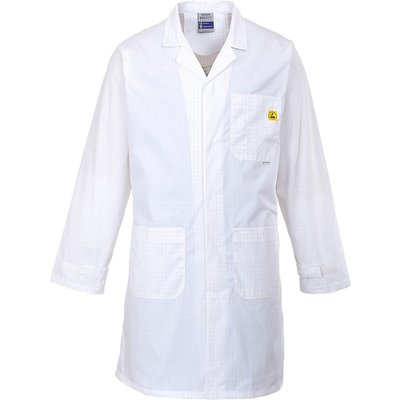 Portwest Anti Static ESD Coat White M