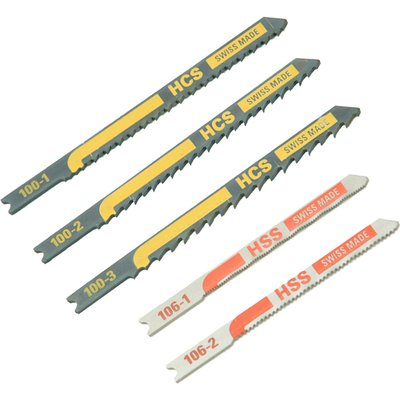 Black and Decker X27040 Piranha 5 Piece Metal and Wood HCS / HSS U Shank Jigsaw Blade Set