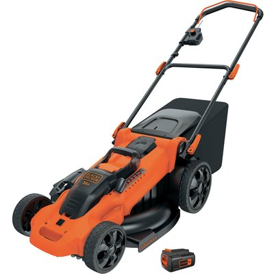 Black   Decker CLMA4820L 36v Cordless Autosense Rotary Lawnmower 480mm 1 x 2ah Li ion Charger - 5011402712045
