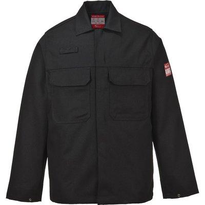 Biz Weld Mens Flame Resistant Jacket Black 3XL