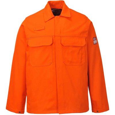 Biz Weld Mens Flame Resistant Jacket Orange L