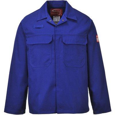 Biz Weld Mens Flame Resistant Jacket Royal Blue S