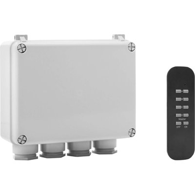 Byron Outdoor 3 Way Switch Box and Remote Control - 8711658410852