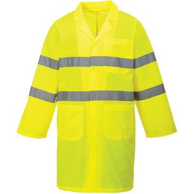 Portwest Class 3 Lightweight Hi Vis Coat Yellow L