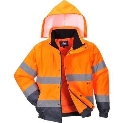 Oxford Weave 300D Class 3 Hi Vis 2-in-1 Jacket Orange L