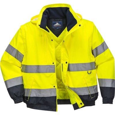 Oxford Weave 300D Class 3 Hi Vis 2-in-1 Jacket Yellow 3XL