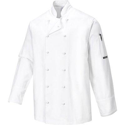 Portwest Mens Norwich Chefs Jacket White XS