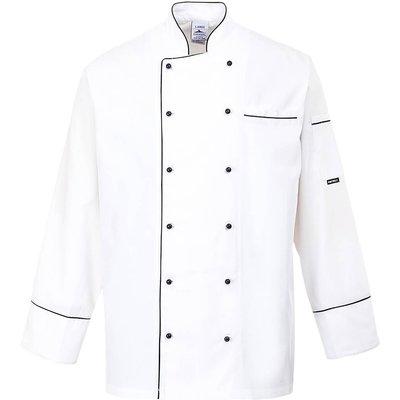 Portwest Mens Cambridge Chefs Jacket White L