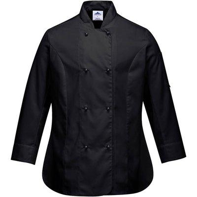 Portwest Ladies Rachel Chefs Jacket Black XS