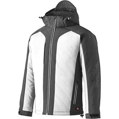 Dickies Mens Winter Softshell Jacket White / Grey S