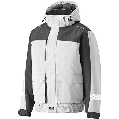 Dickies Mens Winter Jacket White / Grey S