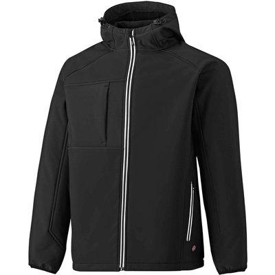 Dickies Mens Two Tone Softshell Jacket Black S