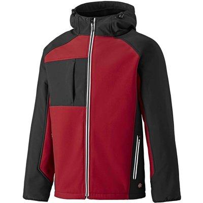 Dickies Mens Two Tone Softshell Jacket Red / Black M