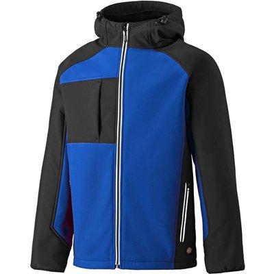 Dickies Mens Two Tone Softshell Jacket Royal Blue / Black S
