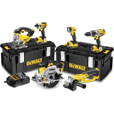 DeWalt DCK692M3 18v XR Cordless 6 Piece Power Tool Kit 3 x 4ah Li-ion Charger Case